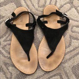 Black JCrew sandals